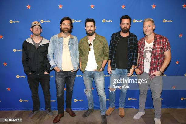 Whit Sellers Geoff Sprung Matthew Ramsey Brad Tursi and Trevor Rosen of Old Dominion visit Spotify House during CMA Fest at Ole Red on June 07 2019...