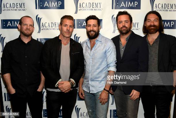 Whit Sellers Trevor Rosen Matthew Ramsey Brad Tursi and Geoff Sprung of Old Dominion attend the 2017 AIMP Nashville Awards on May 8 2017 in Nashville...