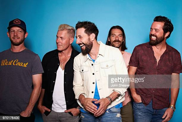 Whit Sellers Trevor Rosen Matthew Ramsey Geoff Sprung and Brad Tursi of Old Dominion pose in the portrait studio at the 2018 CMA Music Festival at...