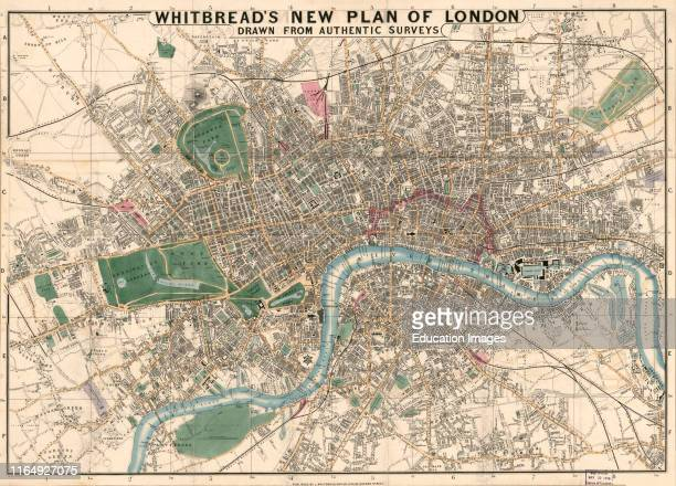 Whitbreads New Plan of London, Drawn from Authentic Surveys, Published by J Whitbread, 1853.