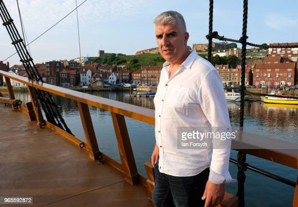 Whitby businessman and new owner Andrew Fiddler stands on the deck of HM Bark Endeavour a replica of Captain Cook's famous ship HMS Endeavour as it...