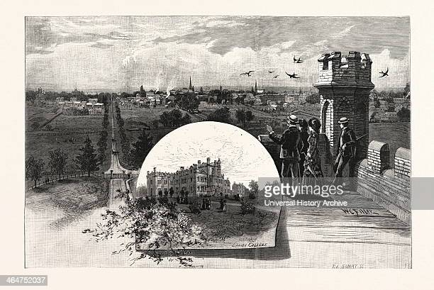 Whitby From Ontario Ladies College Canada Nineteenth Century Engraving