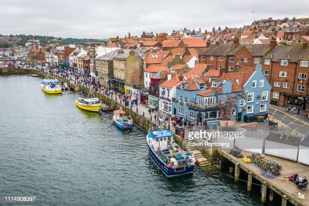 whitby harbor - village stock pictures, royalty-free photos & images