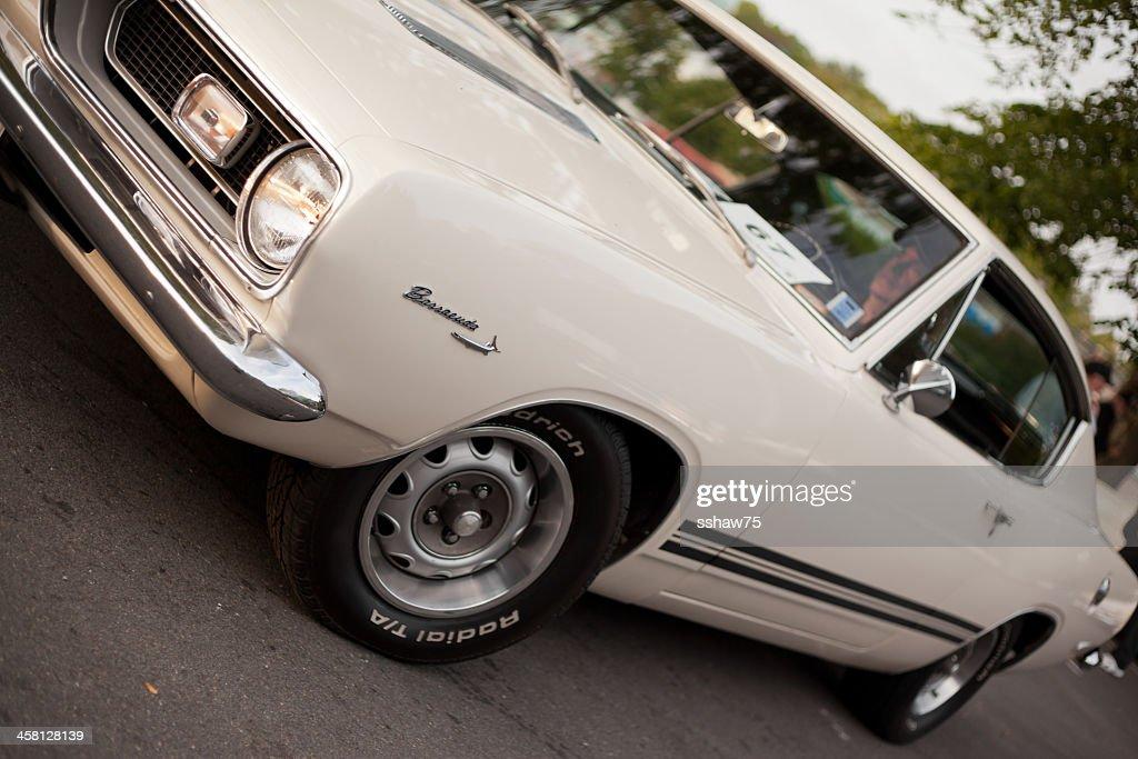 Bianco 1969 Plymouth Barracuda : Foto stock
