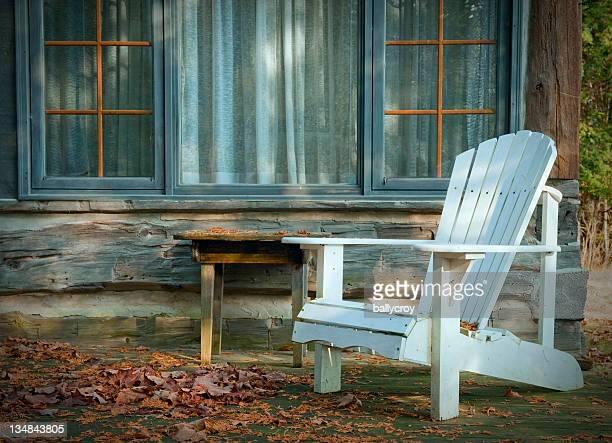 Branco Cadeira Adirondack