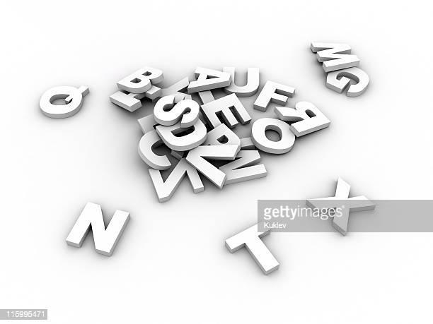 Blanc Lettre de l'alphabet