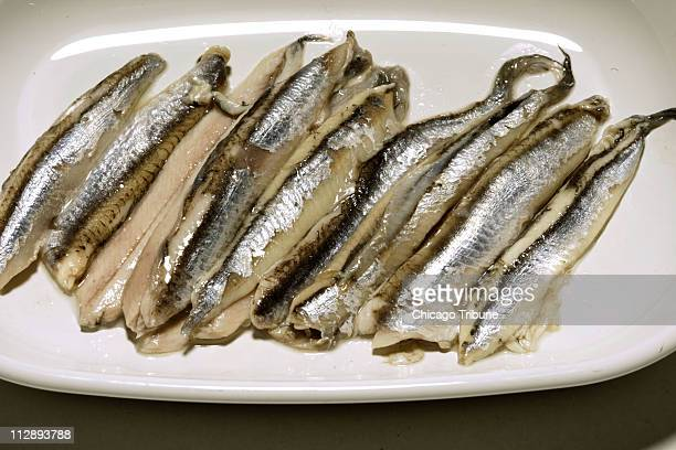 White anchovies are considered a more elegant cousin to the briny brown fillets sold in those flat metal tins