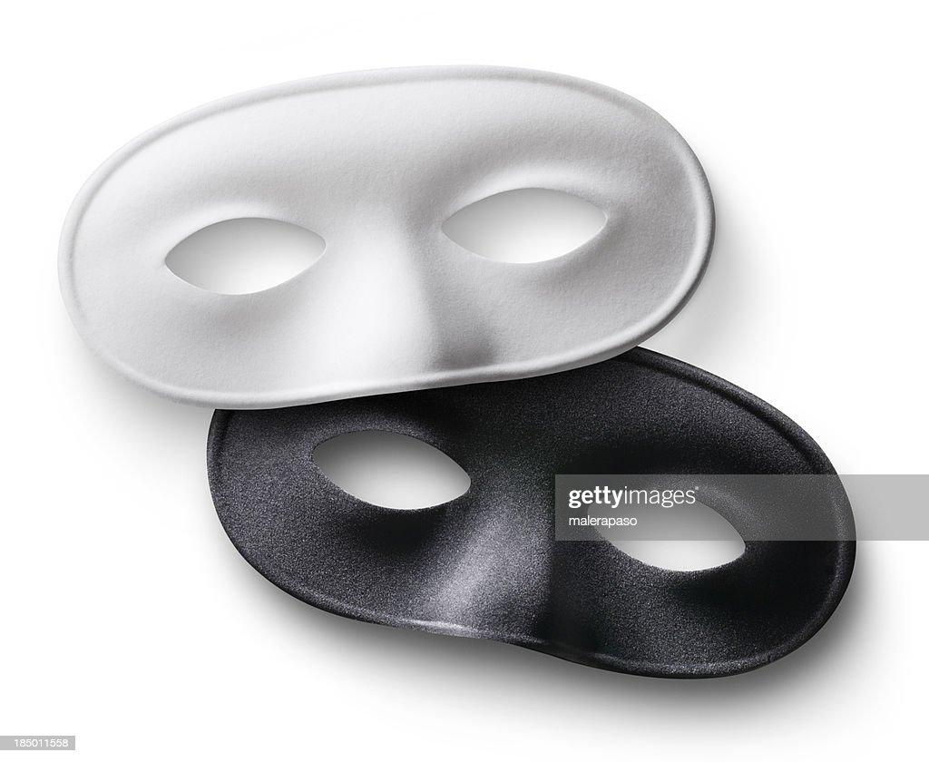 White and black masks : Stock Photo