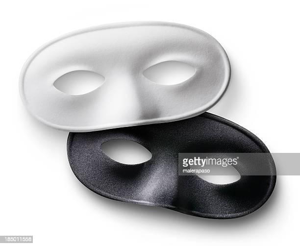 White and black masks