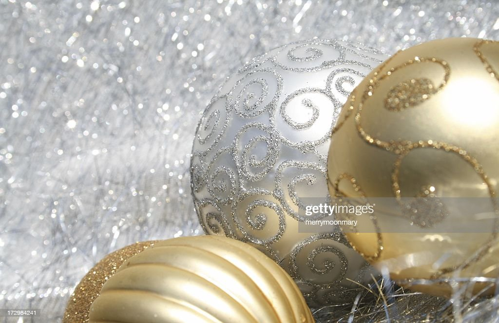 white and gold christmas border stock photo getty images