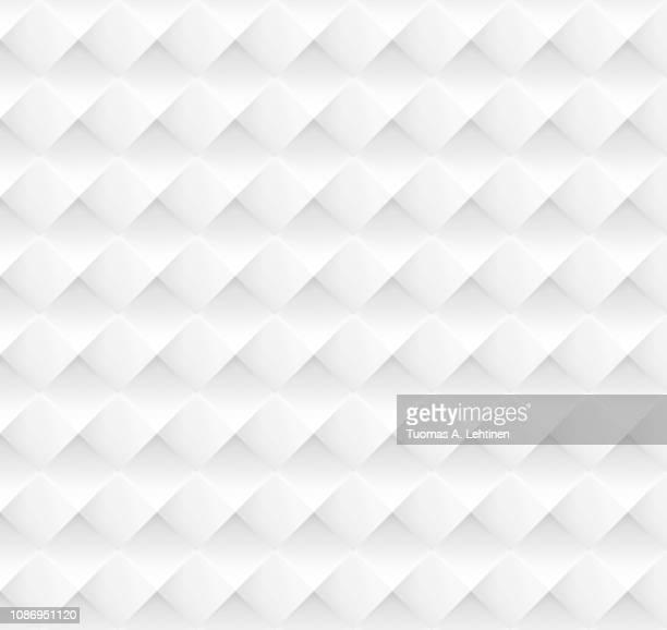 white and gray geometric rhombus background - 菱型 ストックフォトと画像