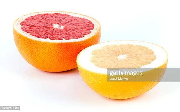 white and red grapefruit - grapefruit red stock pictures, royalty-free photos & images