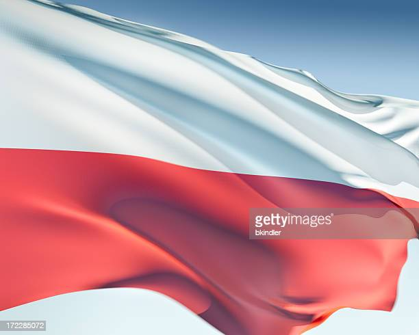White and red the flag of Poland
