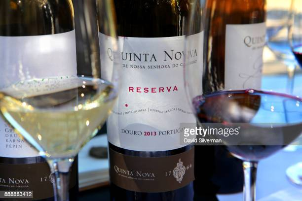 White and red wines are set up for tasting at the Quinta Nova de Nossa Senhora do Carmo winery on October 8 2016 near Covas do Douro in the Douro...