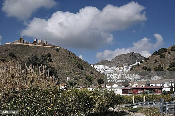 White Andalusian village between two mountains