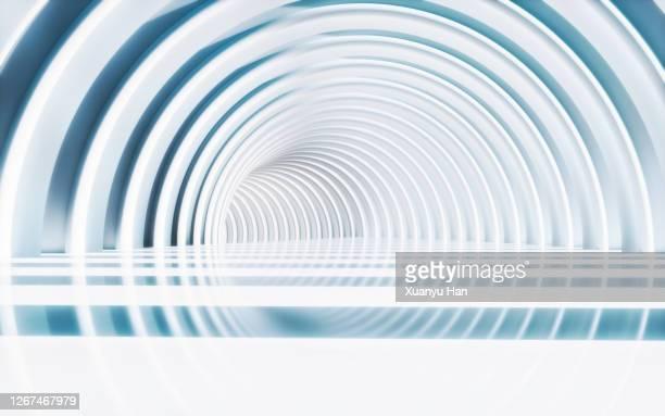white arched futuristic architecture background - arco architettura foto e immagini stock