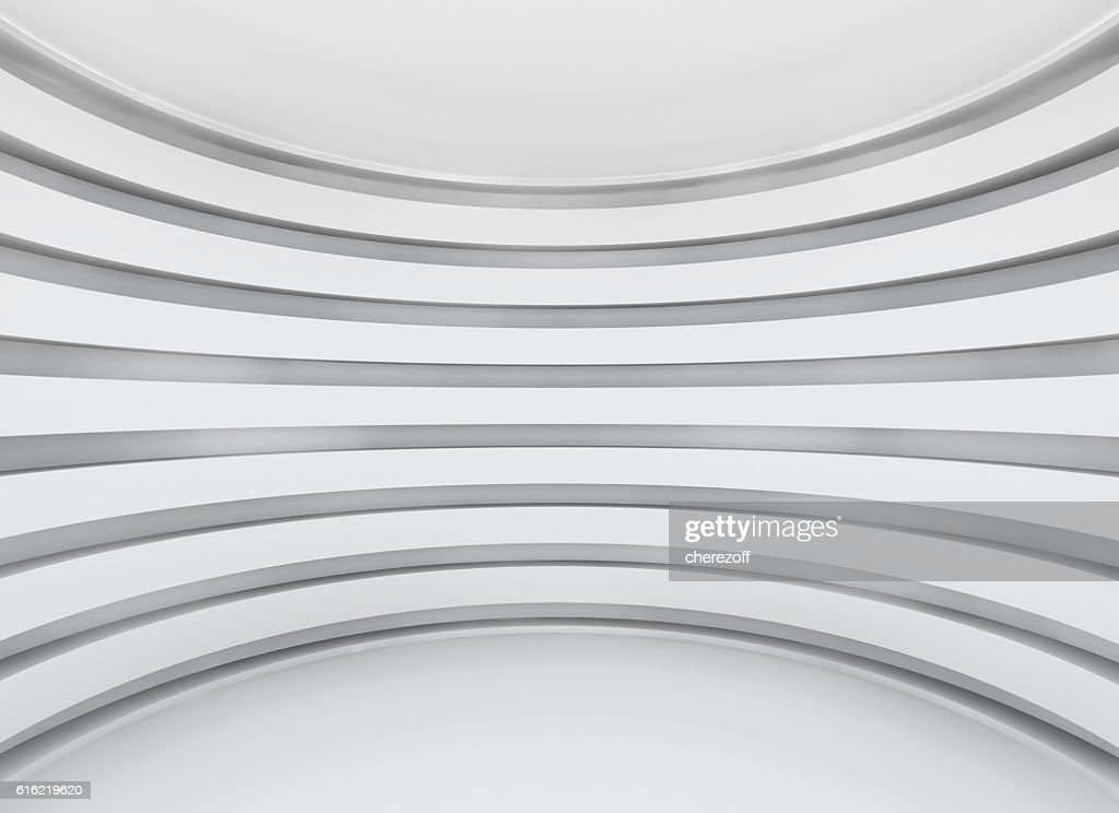 White architecture circular background : Stock Photo