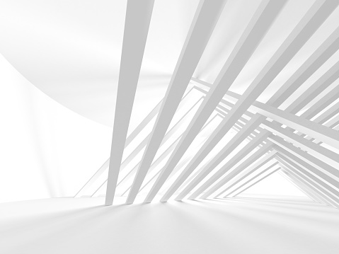 White Architecture Construction Modern Interior Background 1097508768