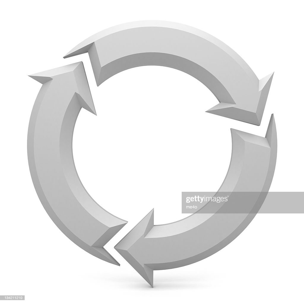 white Arrows sign : Stock Photo