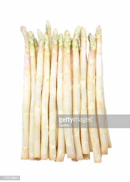 White asparagus isolated on a white background