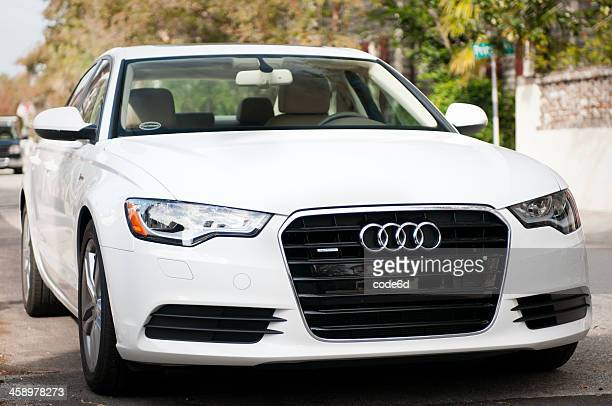 white audi a6 (c 7 series) in charleston, usa - audi stock pictures, royalty-free photos & images
