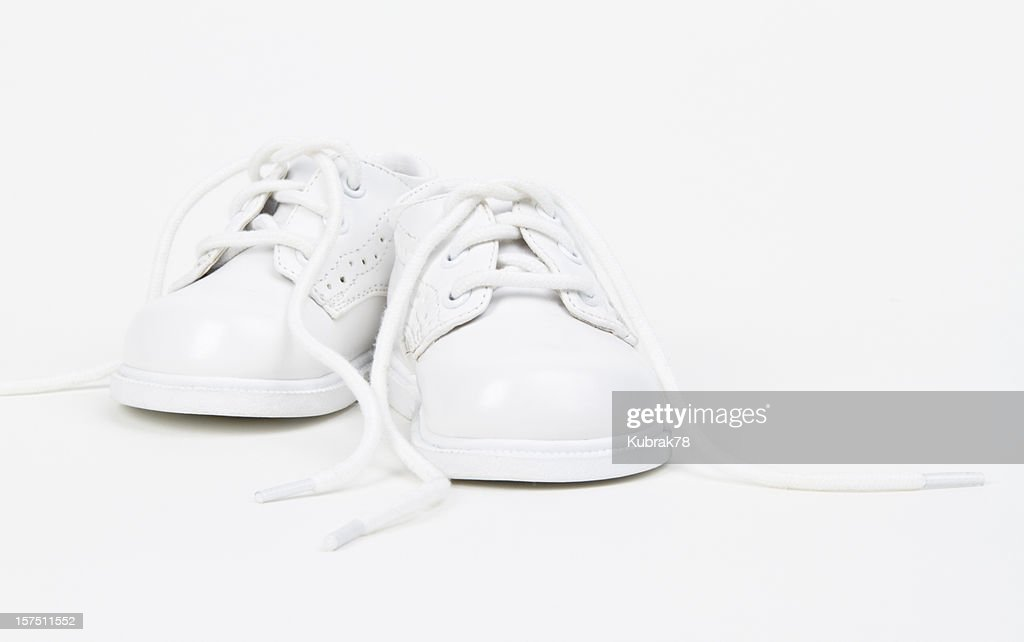 White Baby Shoes : Stock Photo