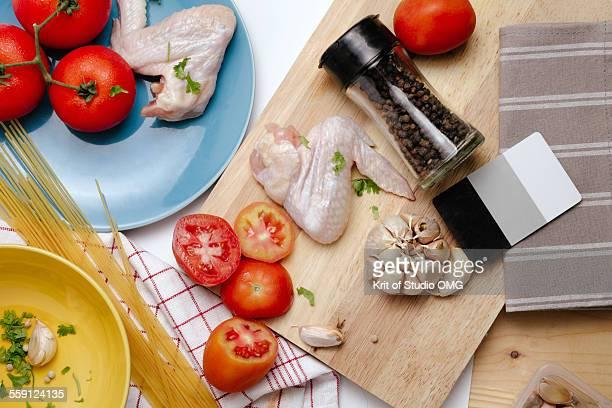 White balance card food photography