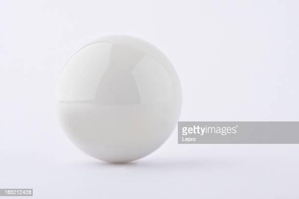 White ball on white background