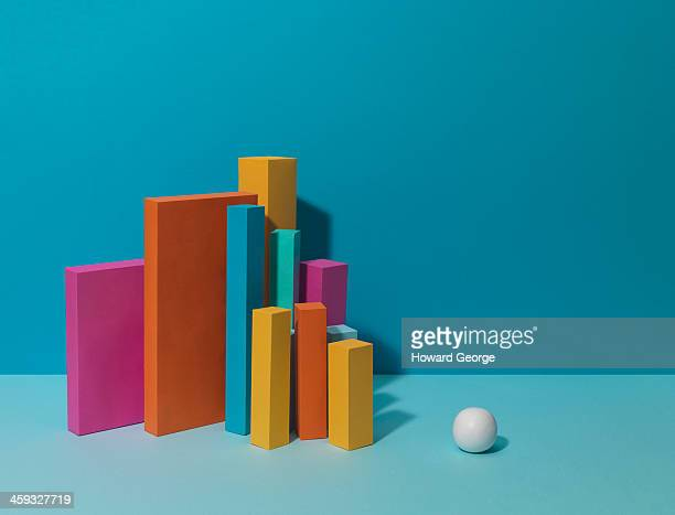 White Ball with Coloured Towers