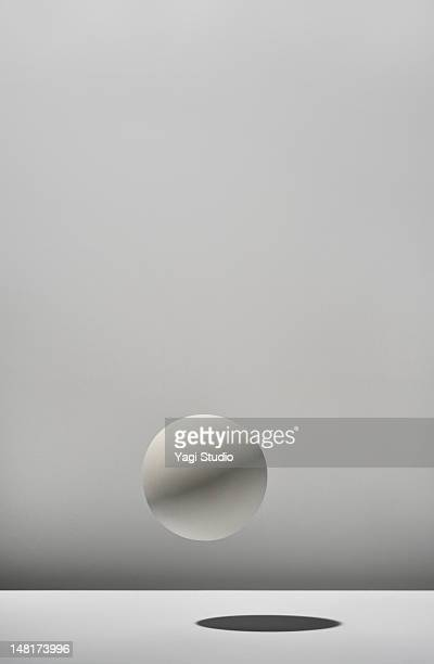 White ball with white background