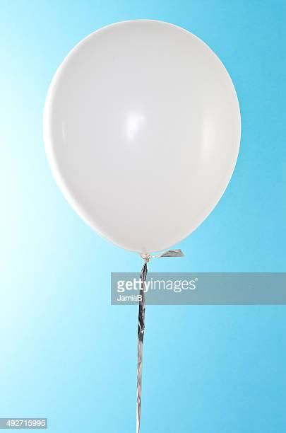 White Balloon against blue sky