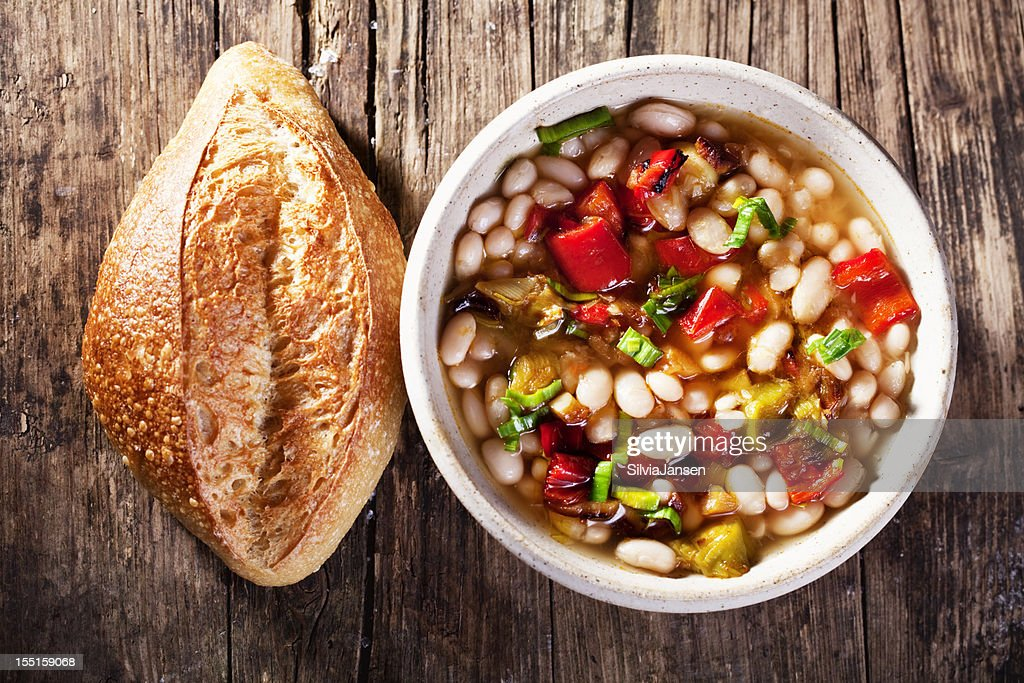 white bean soup : Stock Photo