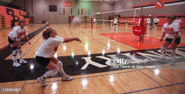 White Bear Lake Friday Sept 17 1999 Rittenhouse family involved with volleyball Sarah Rittenhouse Kristin Rittenhouse 16 and their sister Emily...
