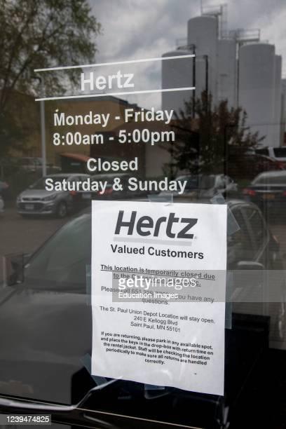 White Bear Lake Minnesota Hertz car rental Hertz filed for bankruptcy protection due to the coronavirus pandemic Hertz lost all its revenue when...