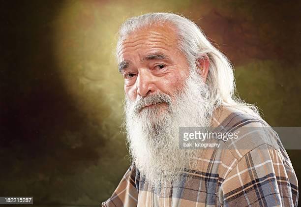white beard old man