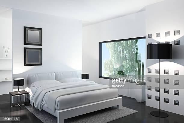 Blanc chambre à coucher