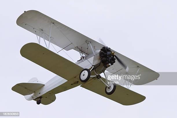 White Biplane Flying 2