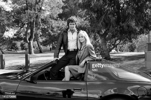 RIDER 'White Bird' Episode 19 Pictured David Hasselhoff as Michael Knight Catherine Hickland as Stefanie Mason Photo by NBCU Photo Bank