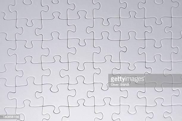 White blank jigsaw puzzle