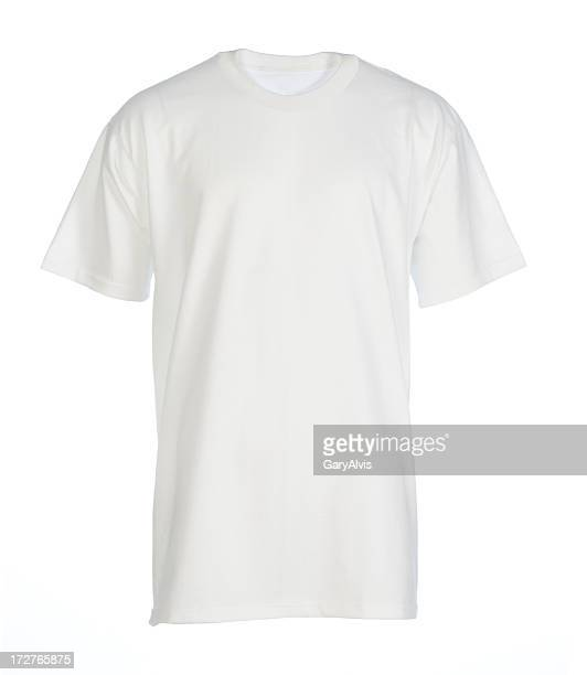 White, blank, t-shirt front-isolated on white