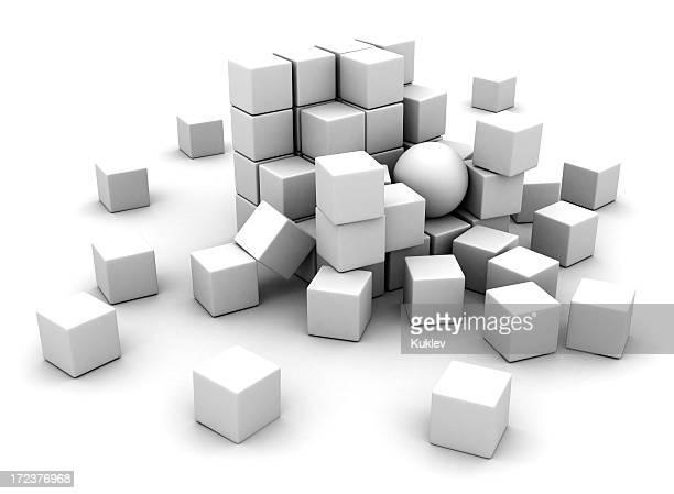 White blocks