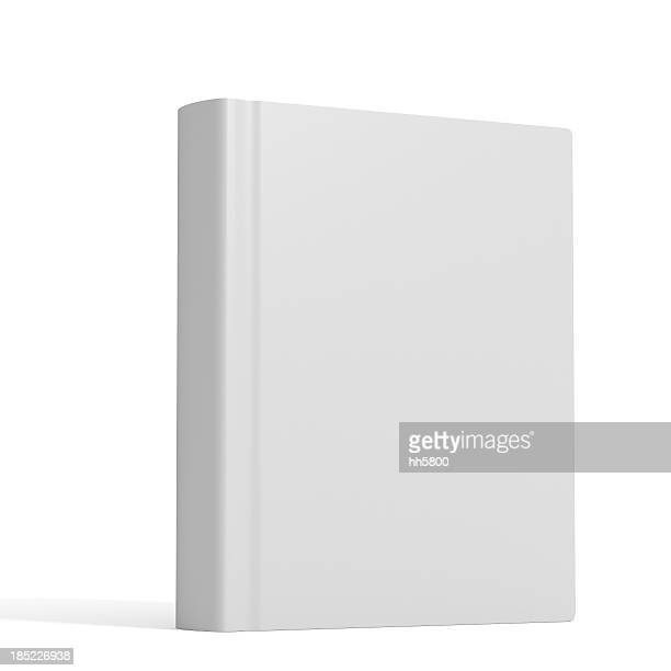 White book with no title standing on white background