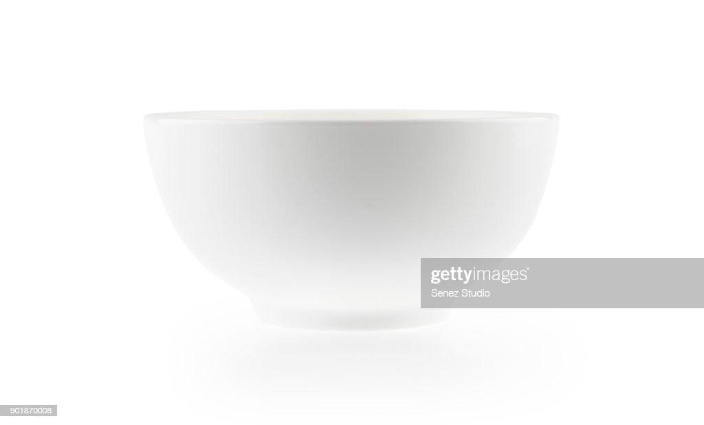 white bowl : Foto de stock