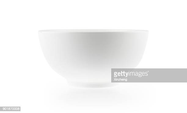 white bowl - bowl stock pictures, royalty-free photos & images