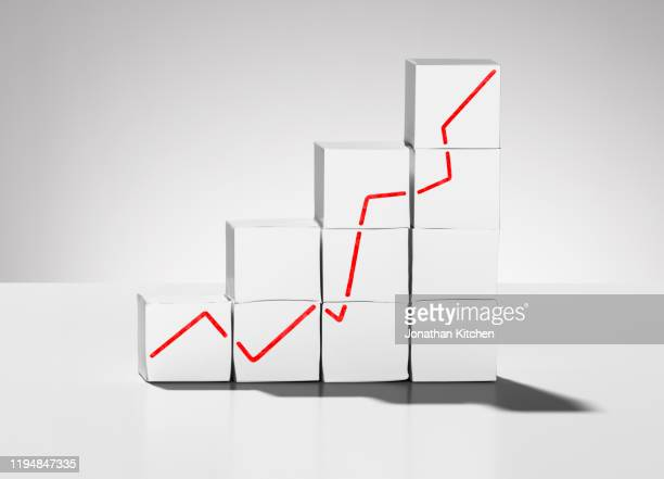 white box graph - moving up stock pictures, royalty-free photos & images