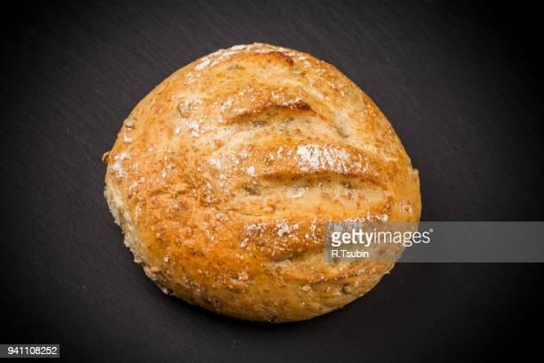 White bread on dark