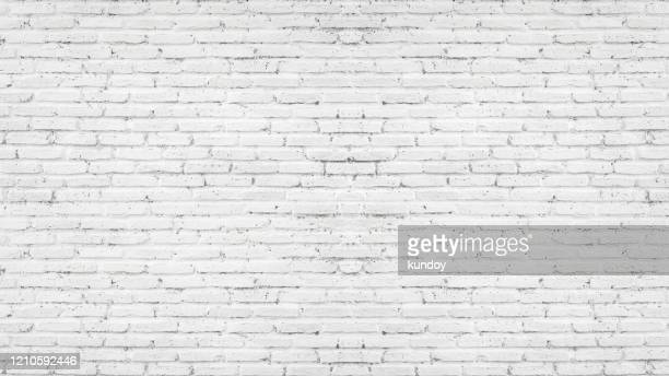 white brick wall, abstract texture for background. - brick wall stock pictures, royalty-free photos & images