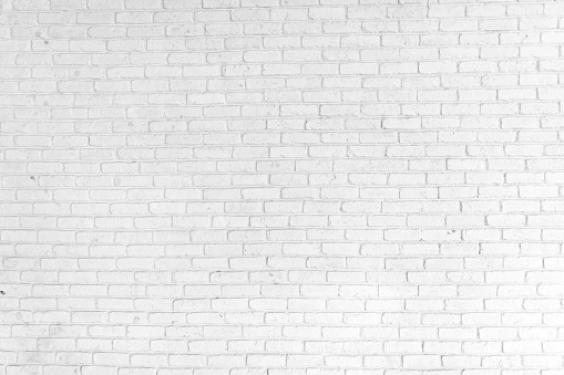 White Brick Wall Background 907892712