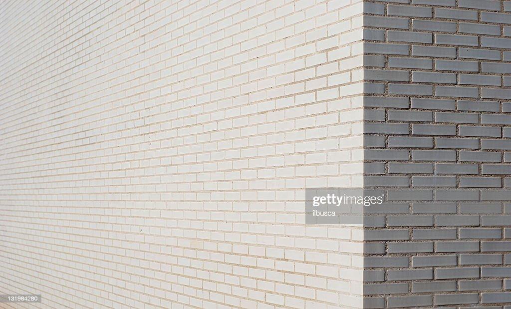 White brick wall corner : Stock Photo