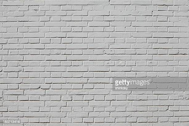 white brick wall - gray color stock photos and pictures